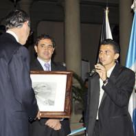 """Reconocimiento Señor Presidente Alvaro Colom Exposición """"Reflejos de Esperanza"""""""